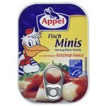 Appel Fisch-Minis in tomatiger Ketchup-Sauce