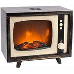 Ideen mit Herz LED-Ka­min­feu­er Retro-TV Design