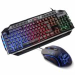 Oevan Gaming-Tastatur-Maus-Set GK 710