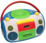 Outmark Harlekin Tragbarer Kinder-Radio-Kassetten-CD-Player