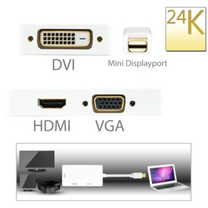 CSL - 3in1 Mini Display Port zu VGA + HDMI + DVI Adapter