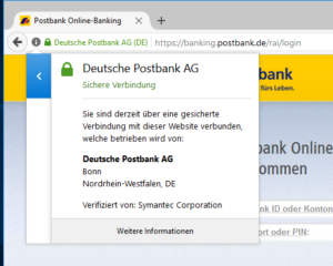 Online-Banking-Software Browser