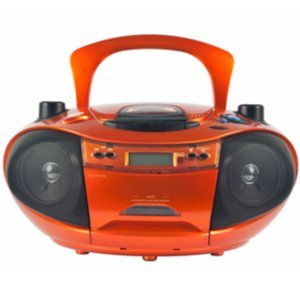 oranger cd-player mit bluetooth