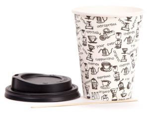 Coffee to go-Becher Pappe Test