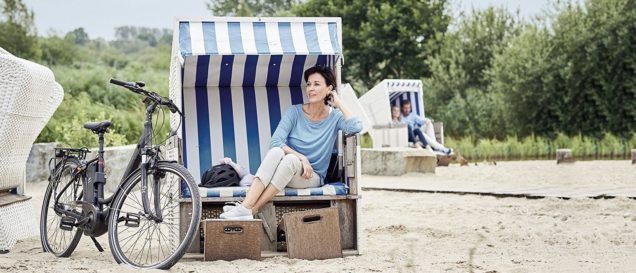 E-Bike City: Prophete Geniesser am Strand