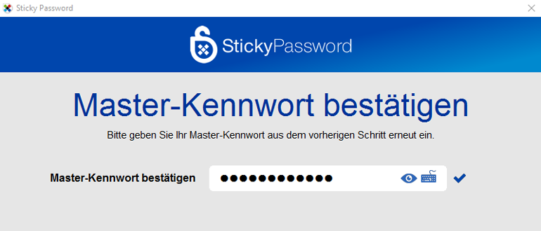 Passwortverwaltung für Windows und Mac: StickyPassword