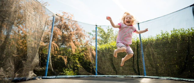 Trampolin oval Test