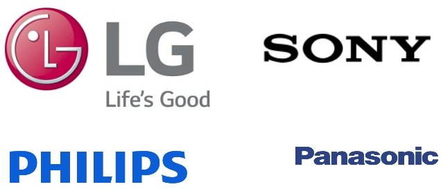 Sony, LG, Panasonic, Philips