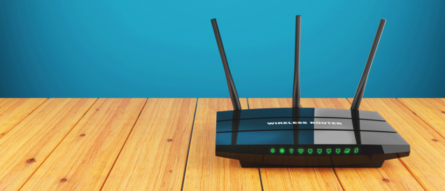 vdsl router on table
