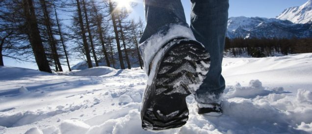 Beheizbare Socken-Test im Winter